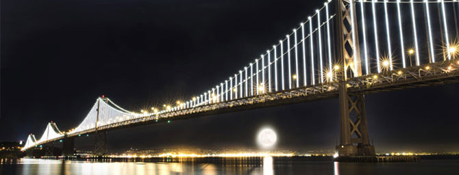 Bay Bridge Light Installation